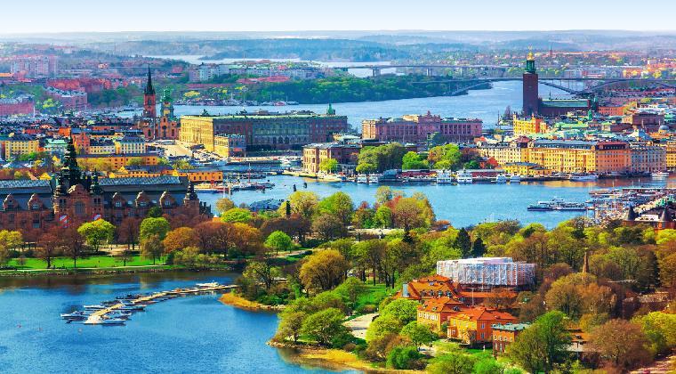 Sicht auf Gamla Stan in Stockholm Schweden