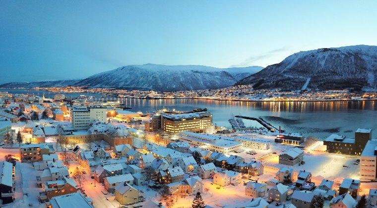 polarnacht in Tromsø Norwegen