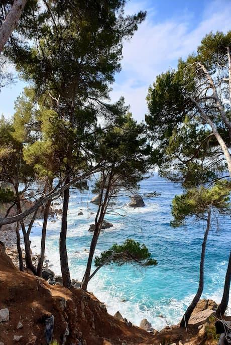 Blick auf das Meer Cala Deia