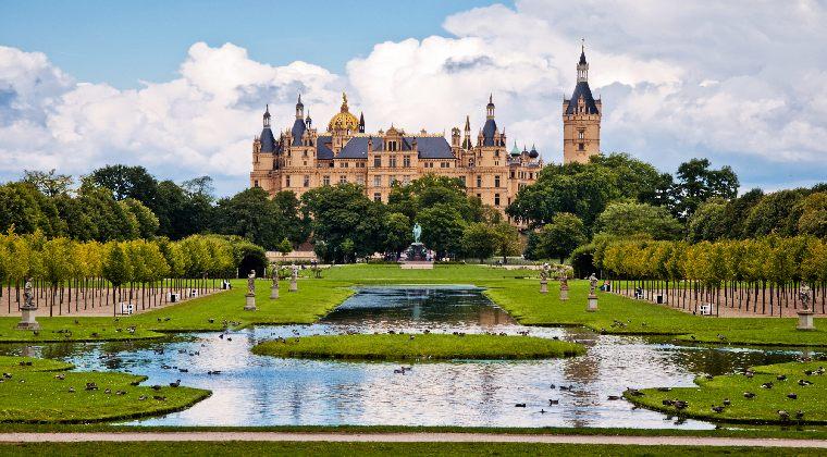 Schwerin Blick auf das Märchenschloss