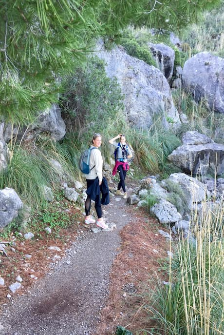 Wanderweg ab Cala Tuent