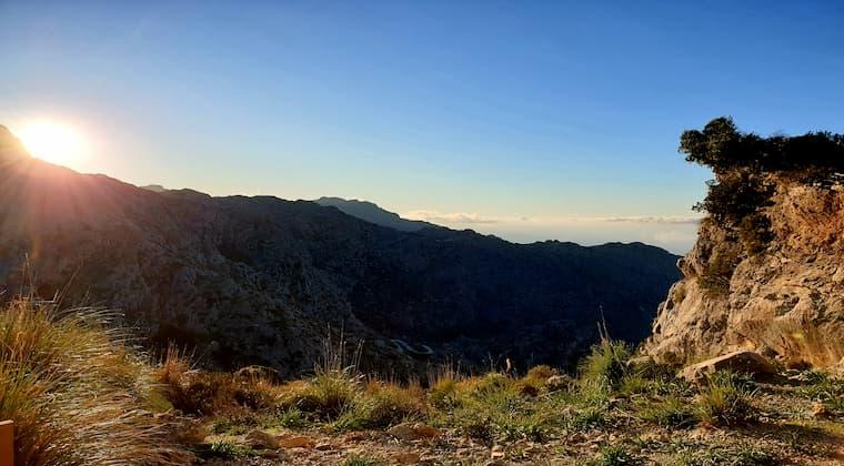 Sonne und Gebirge Mallorca