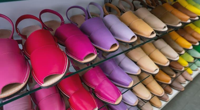 Abarcas typischer Schuh Menorca