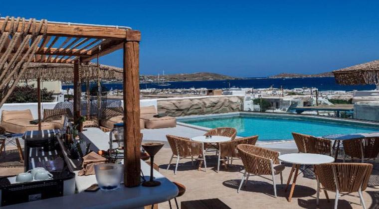 Insel Paros Griechenland Bohemian Luxury Boutique Hotel Pool