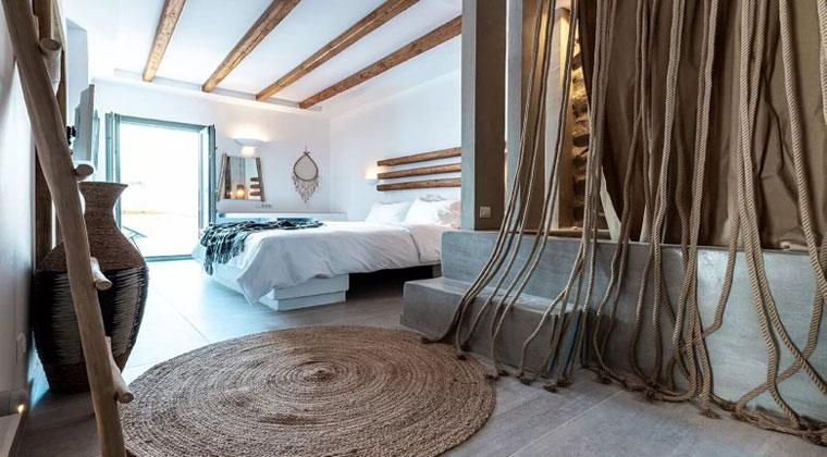 Insel Paros Griechenland Bohemian Luxury Boutique Hotel Wohnbeispiel