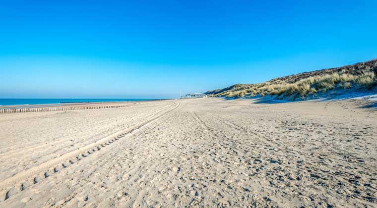 Strand bei Domburg auf Walcheren bei Zeeland