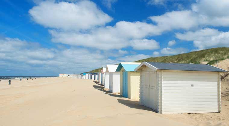 Strand auf der Insel Texel