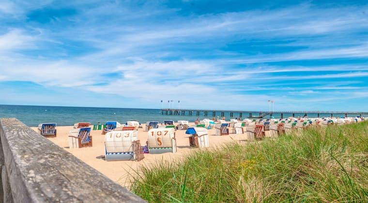 Strand am Strandhotel Weissenhäuser Strand