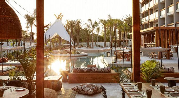Griechenland Kreta Hotel The Syntopia Sonnenuntergang Pool