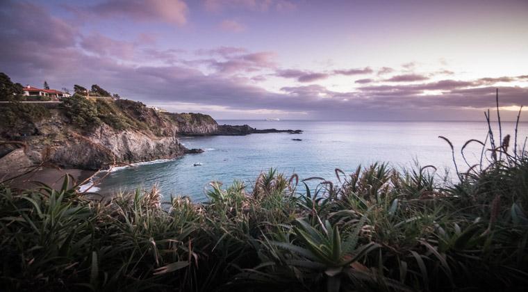 Azoren Blick auf die Bucht Caloura