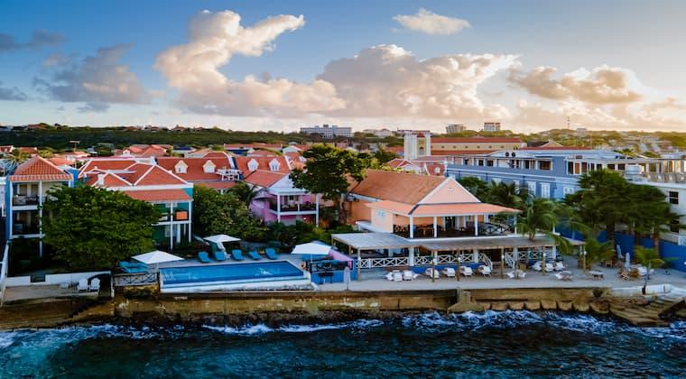 Blick auf Pietermaai Curacao