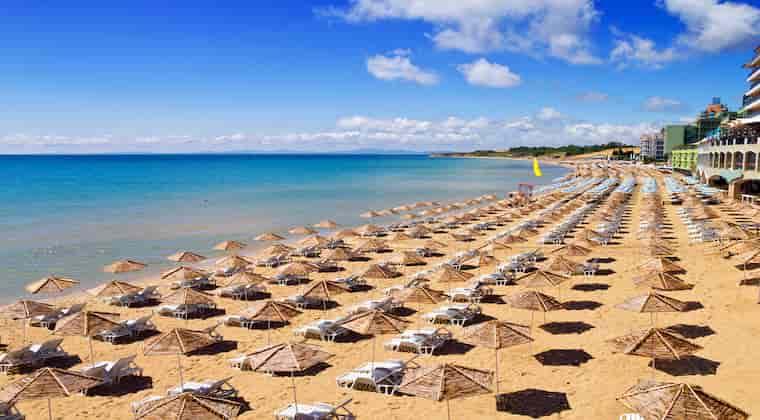 Nessebar Strand Bulgarien Sonnenstrand