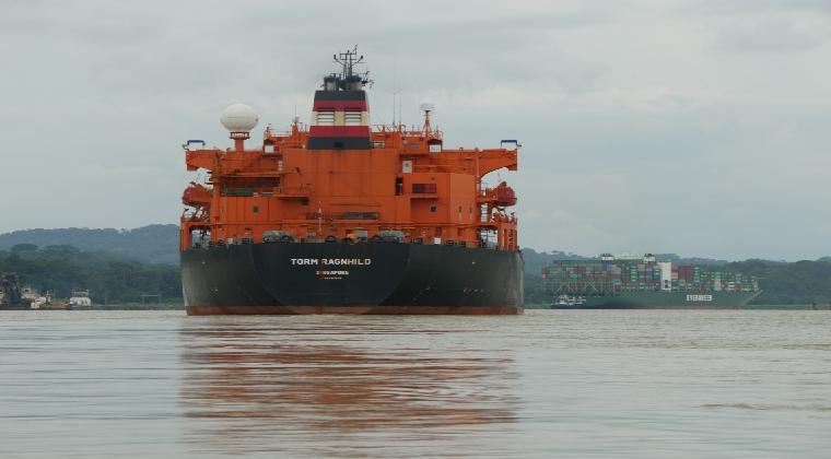 Kanal Schiff in Panama
