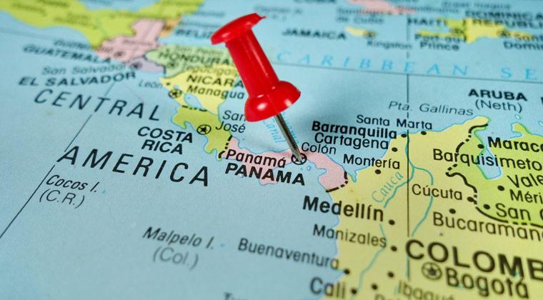 Pushpin Map Panama