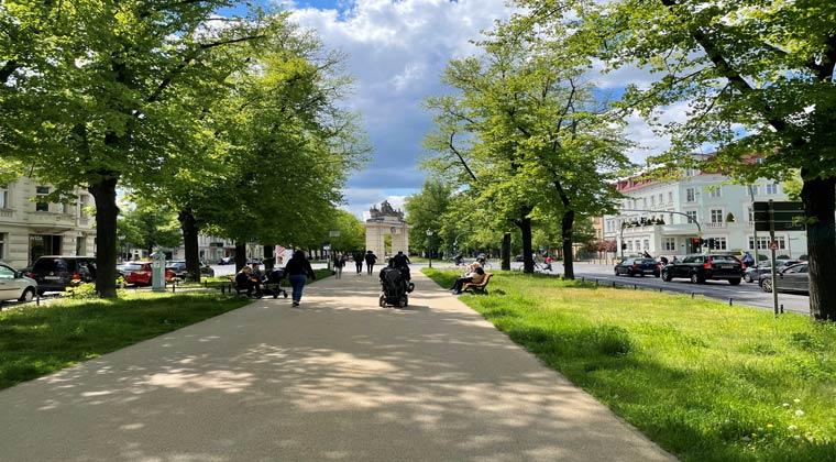 Potsdam Fußweg vom Nauener Tor zum Jägertor. Ideal für einen Spaziergang