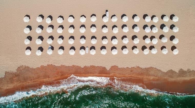 Sonnenschirme Bulgarien Strand