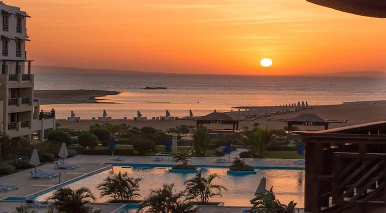 Sonnenuntergang Hotel Samra Bay Hurghada