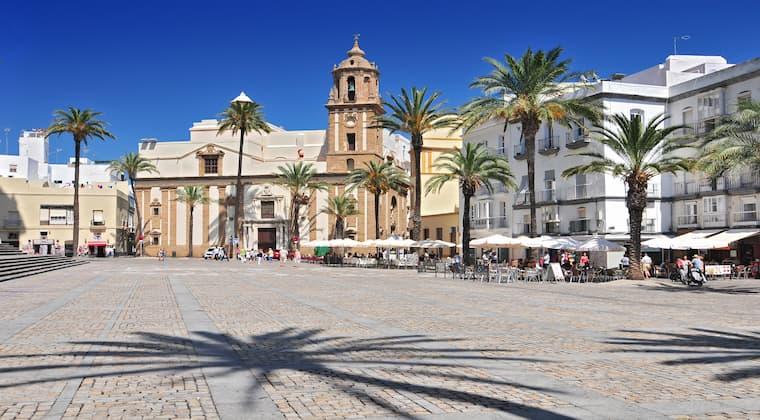 Altstadt von Cadiz in Andalusien