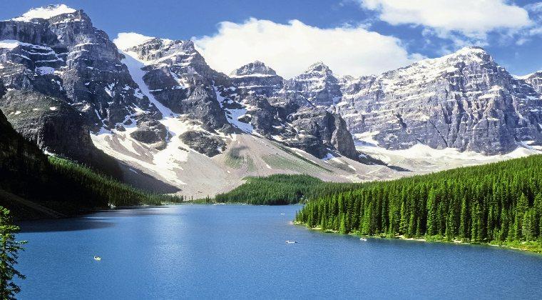 Kanada Banff Berge und See