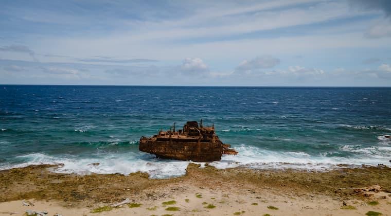 Schiffswrack Klein Curacao