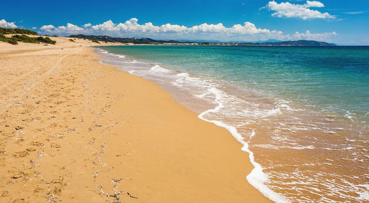 Korfu Strände langer Sandstrand Issos Beach