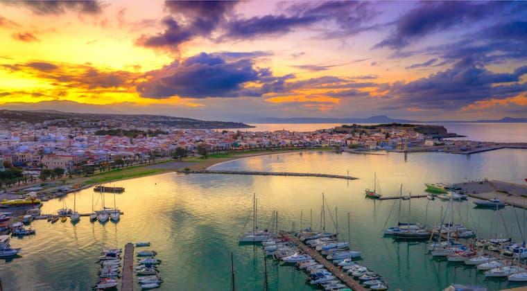 Kreta Rethymon Blick auf Fortezza