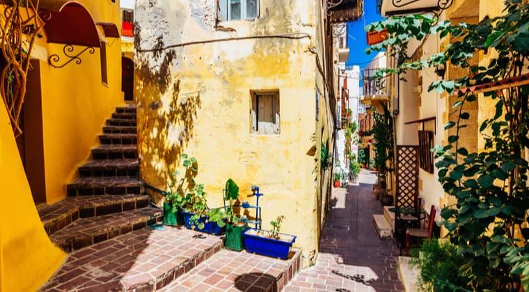 Kreta Sehenswürdigkeiten Chania Altstadt Gassen