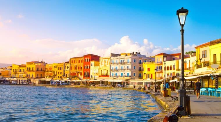 Venizianischer Hafen von Chania auf Kreta