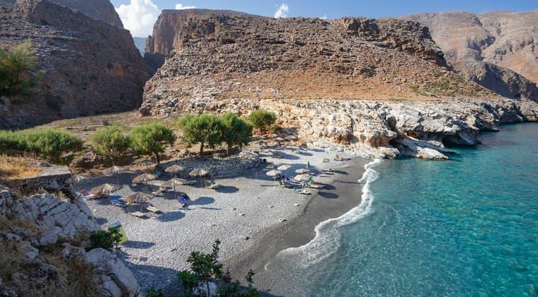 Ardena Schlucht Maramar Strand Kreta