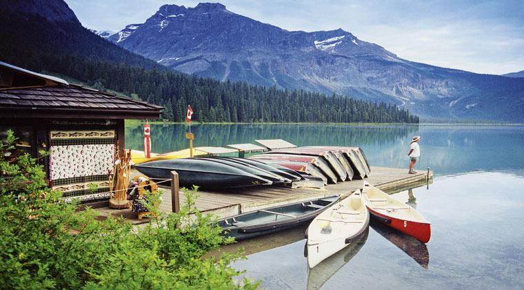 nationalparks kanada yoho bootsanleger