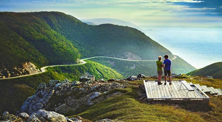 Nationalparks Kanada Cape Breton Aussichtsplattform