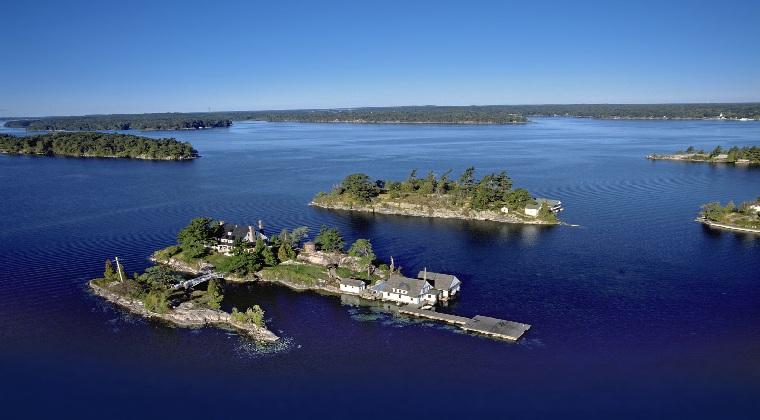 nationalparks kanada thousand island Haus auf einer Insel