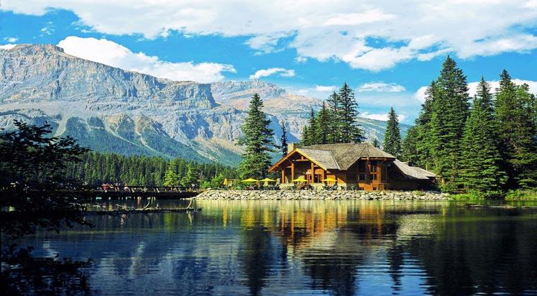 nationalparks kanada yoho hütte am fluss