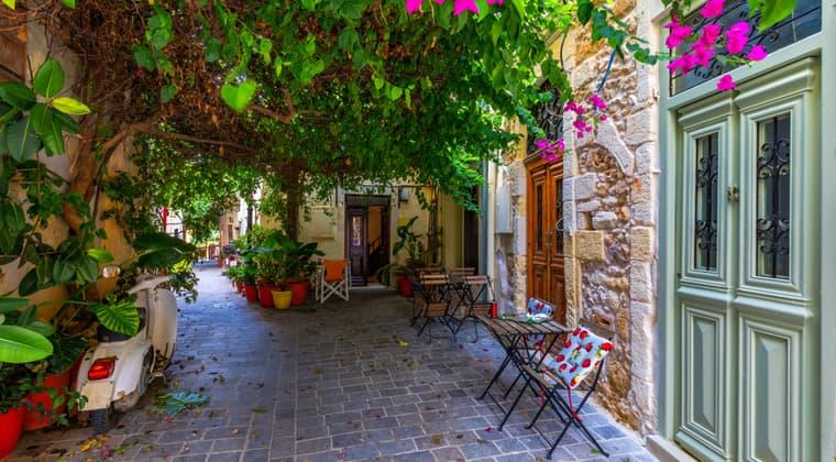 Gemütliche Gassen in Chania Sehenswürdigkeiten Kreta