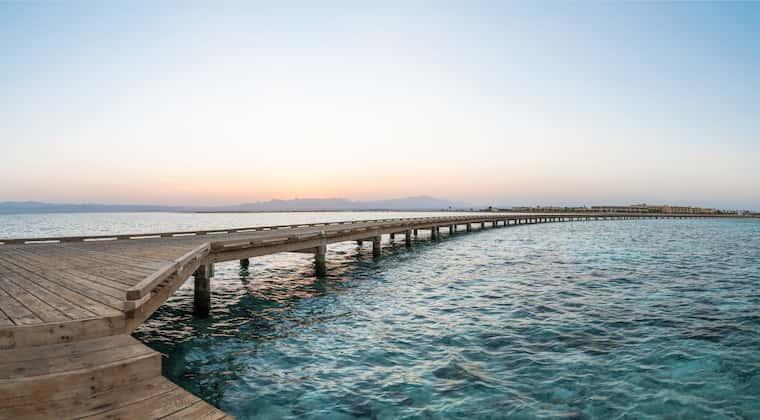 Soma Bay Ägypten Strand Steg