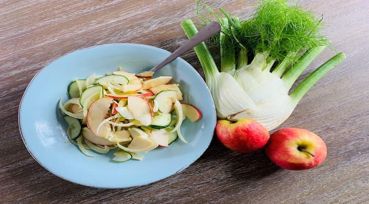 Fenchel-Apfel-Gurken-Salat Vegan