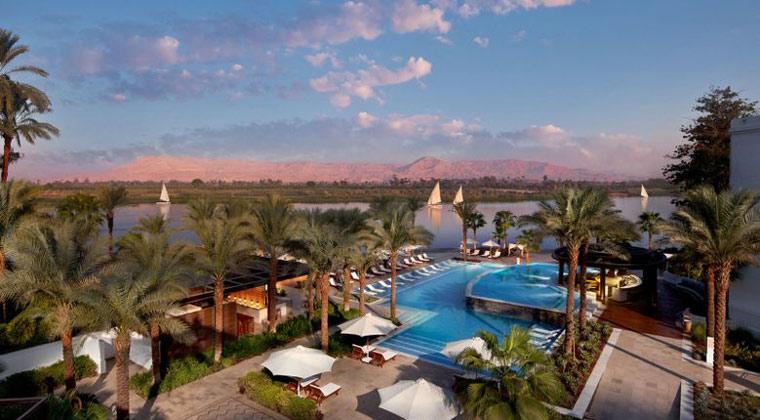 Ägypten Hilton Luxor Resort & Spa die Poollandschaft