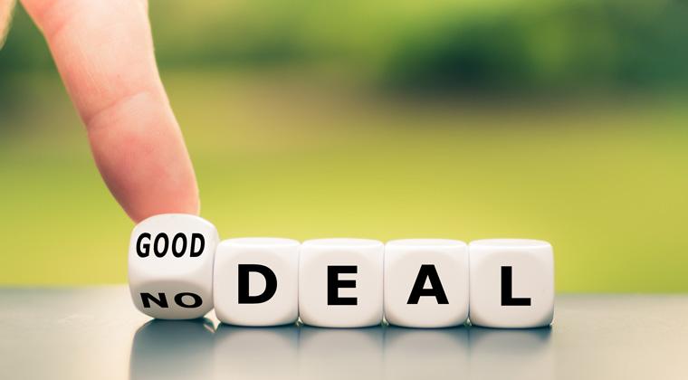 Grafik mit der Schrift Deal