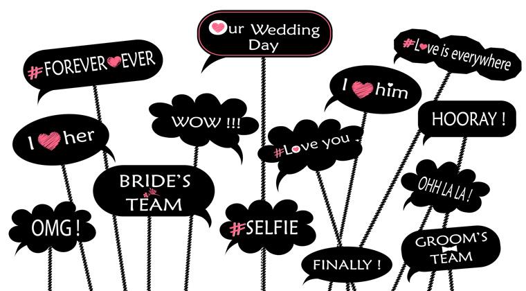 Collage mit Sprüchen zu Heiraten