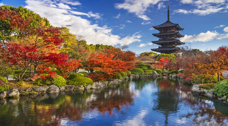 Herbstfarben in Kyoto Japan