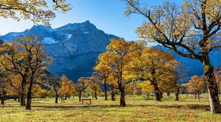 Die Karwendelberge in Tirol