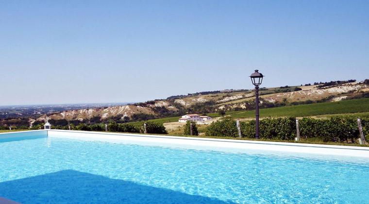 Pool vom Borgo Conde Wine Resort