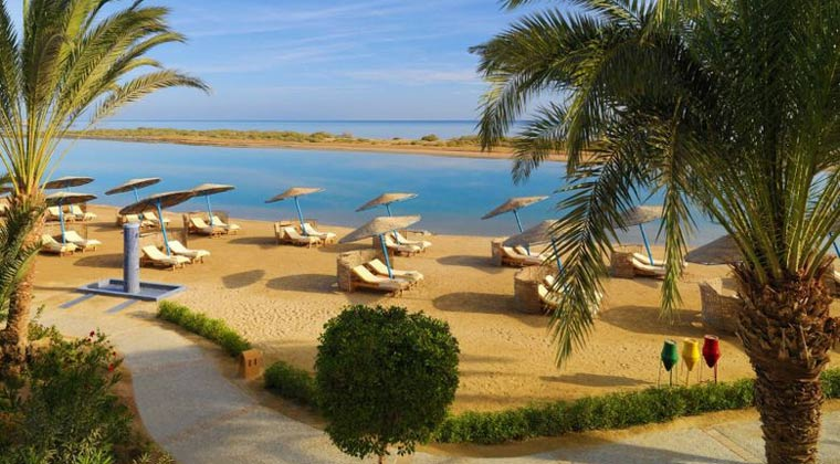 Luxushotel Ägypten Sheraton Miramar der Strand