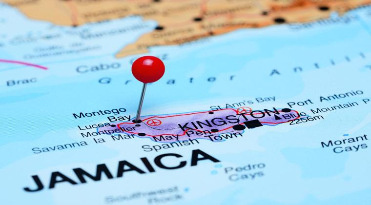 Karte von Jamaika