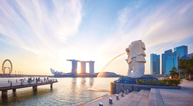 Merlion Wahrzeichen von Singapur