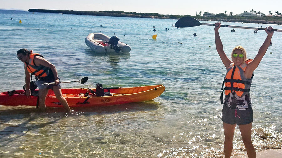 Kajak fahren auf Menorca