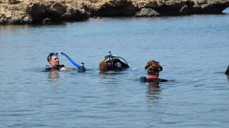 Erste Tauchversuche auf Zypern