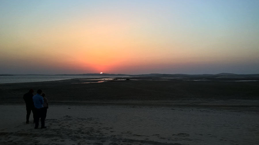 Sonnenuntergang Wüste Katar