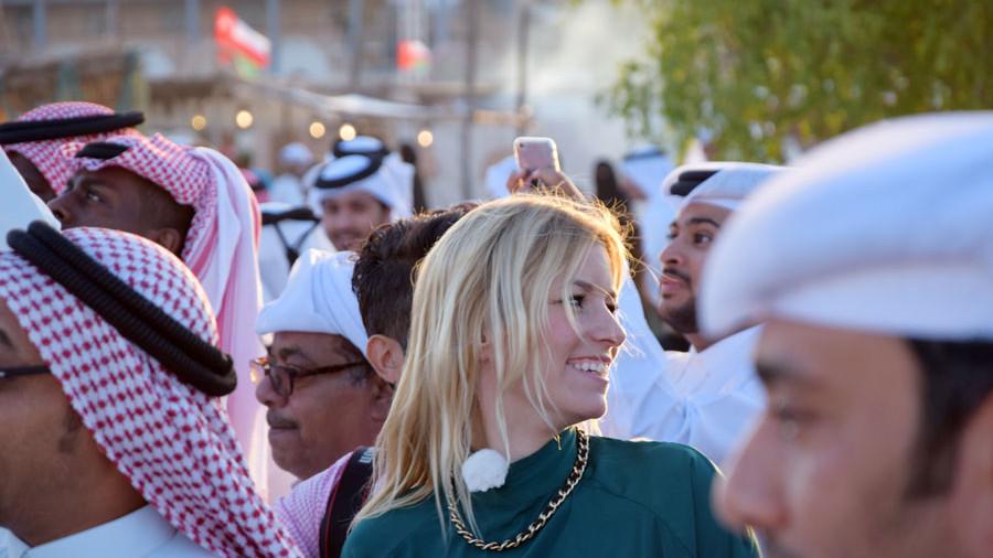 Annica Hansen auf dem Katara Dhow Festival