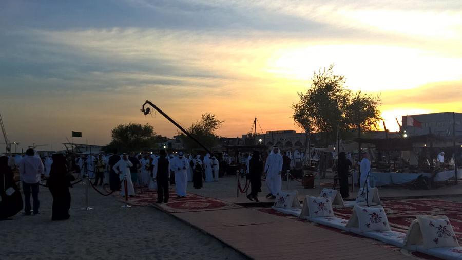 Katara Dhow Festival Sonnenuntergang